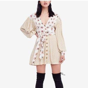 NWT Free People Wonderland Print Dress